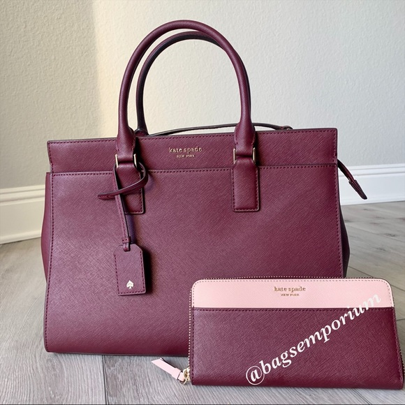 kate spade Handbags - Kate Spade LG Leather Cameron Satchel Wallet Set